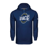 Under Armour Navy Performance Sweats Team Hood-UNCG Shield