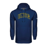 Under Armour Navy Performance Sweats Team Hood-Arched UNCG