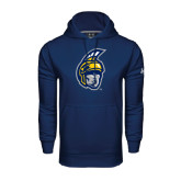 Under Armour Navy Performance Sweats Team Hoodie-Spartan Head