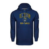 Under Armour Navy Performance Sweats Team Hoodie-Softball