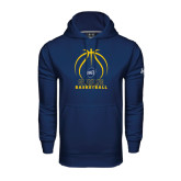 Under Armour Navy Performance Sweats Team Hood-Stacked Basketball