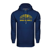 Under Armour Navy Performance Sweats Team Hoodie-Arched Basketball Design
