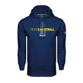 Under Armour Navy Performance Sweats Team Hoodie-Basketball Net Design