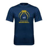 Performance Navy Tee-Stacked Basketball