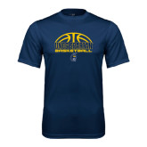 Performance Navy Tee-Arched Basketball Design