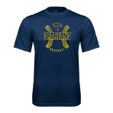Performance Navy Tee-Basball Ball Design