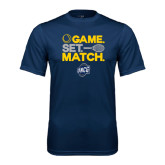 Performance Navy Tee-Game Set Match - Tennis Design