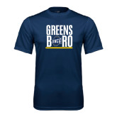 Performance Navy Tee-Greensboro Stacked with Shield