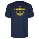 Performance Navy Tee-Baseball SoCon Champions 2017 - Diamond