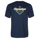 Performance Navy Tee-Baseball SoCon Champions 2017 - Banner w/ Plate