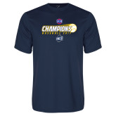 Performance Navy Tee-Baseball SoCon Champions 2017 - Ball in Motion