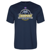 Syntrel Performance Navy Tee-2017 SoCon Regular Season Basketball Champions - Banner