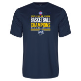 Syntrel Performance Navy Tee-2017 SoCon Regular Season Basketball Champions - Stacked