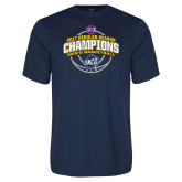Syntrel Performance Navy Tee-2017 SoCon Regular Season Basketball Champions - Arched