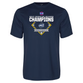 Performance Navy Tee-2017 SoCon Regular Season Softball Champions - Diamond