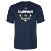 Syntrel Performance Navy Tee-2017 SoCon Regular Season Softball Champions - Diamond
