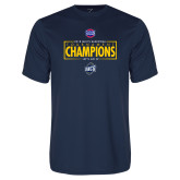 Performance Navy Tee-2018 Mens Basketball Champions - Box