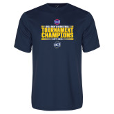 Performance Navy Tee-2018 Mens Basketball Champions - Stacked
