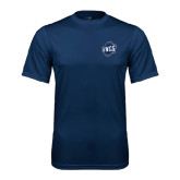 Syntrel Performance Navy Tee-UNCG Shield