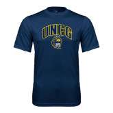 Performance Navy Tee-Arched UNCG w/Spartan