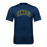 Performance Navy Tee-Arched UNCG