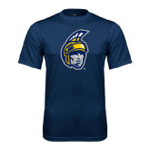 Syntrel Performance Navy Tee-Spartan Head