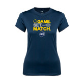 Ladies Syntrel Performance Navy Tee-Game Set Match - Tennis Design