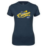 Ladies Syntrel Performance Navy Tee-2018 Softball Champions