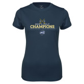 Ladies Syntrel Performance Navy Tee-2018 Mens Golf Champions