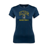 Ladies Syntrel Performance Navy Tee-Basketball