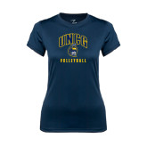 Ladies Syntrel Performance Navy Tee-Volleyball