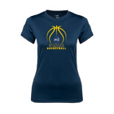 Ladies Syntrel Performance Navy Tee-Stacked Basketball