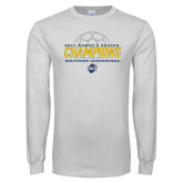 White Long Sleeve T Shirt-2017 Womens Soccer Champions