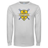 White Long Sleeve T Shirt-2018 Baseball Regular Season Champions