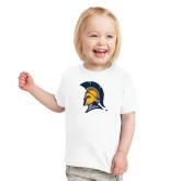 Toddler White T Shirt-Spartan Logo
