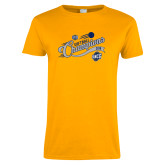 Ladies Gold T Shirt-2018 Softball Champions