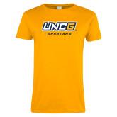 Ladies Gold T Shirt-UNCG Spartans
