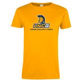 Ladies Gold T Shirt-Track