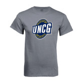 Charcoal T Shirt-UNCG Shield