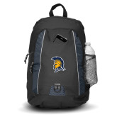 Impulse Black Backpack-Spartan Logo