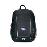 Atlas Black Computer Backpack-UNCG Shield