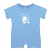 Light Blue Infant Romper-Spartan Logo
