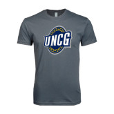Next Level SoftStyle Charcoal T Shirt-UNCG Shield