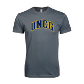 Next Level SoftStyle Charcoal T Shirt-Arched UNCG