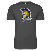 Next Level SoftStyle Charcoal T Shirt-Spartan Logo