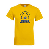 Gold T Shirt-Stacked Basketball