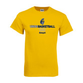 Gold T Shirt-Basketball Net Design