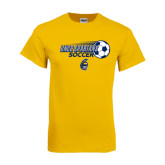Gold T Shirt-Soccer Ball Design