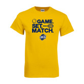 Gold T Shirt-Game Set Match - Tennis Design