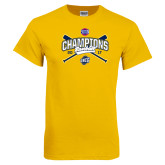 Gold T Shirt-Baseball SoCon Champions 2017 - Crossed Sticks